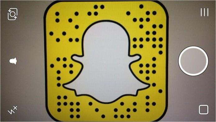 Adicionando contatos usando o Snapcode (Foto: Reprodução/Helito Bijora)