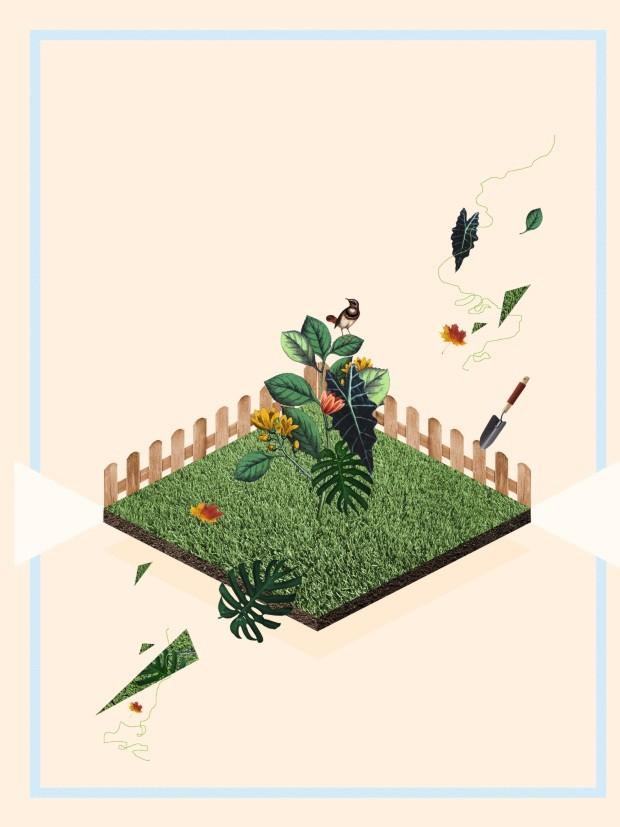 Ilustração de jardim (Foto: Ilustração Yumi Shimada)
