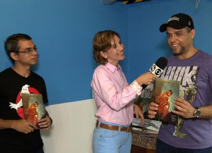 Autores contaram mais sobre a revista em quadrinhos 'Iguarias' (Foto: Rio Sul Revista)