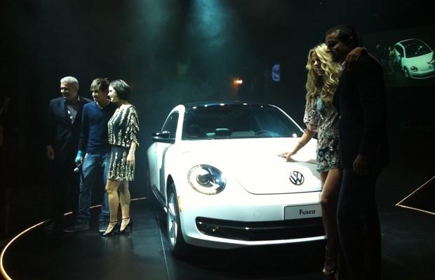 Lançado mundialmente no ano passado, o agora Beetle – sem o 'New' do modelo anterior – será apresentado oficialmente no Salão do Automóvel, entre 24 de outubro a 4 de novembro.  (Foto: Luciana de Oliveira / G1)