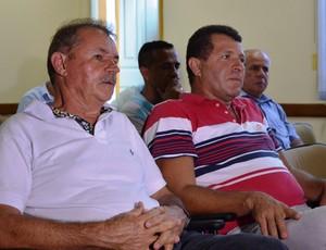Presidentes das equipes compareceram  (Foto: Felipe Martins/GLOBOESPORTE.COM)