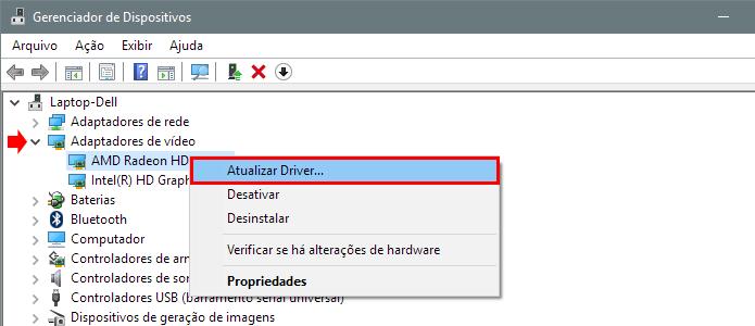 Atualize os drivers de vídeo (Foto: Reprodução/Paulo Alves)