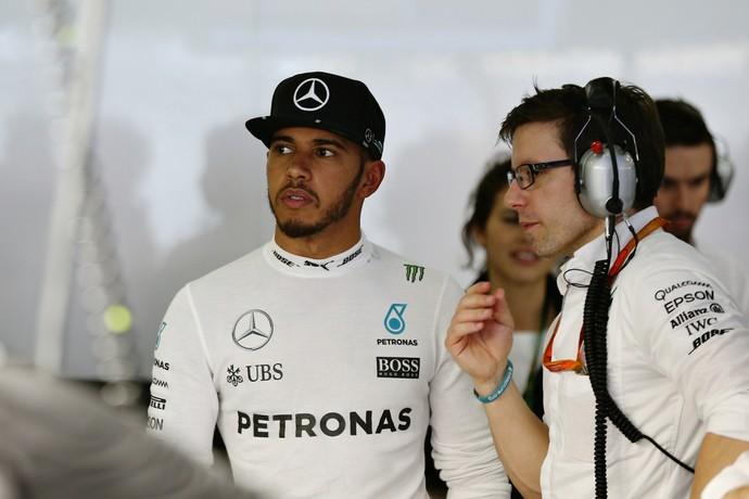 Lewis Hamilton tem problema sem ERS, não marca tempo e vai largar em último (Foto: Getty Images)