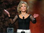 Jane Fonda é homenageada em evento nos Estados Unidos