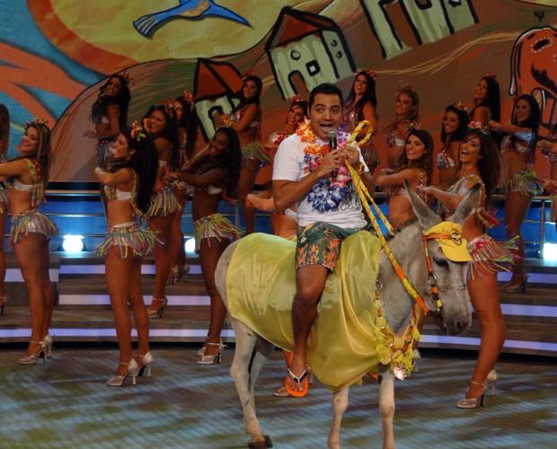 Tirulipa no jumento amarelo (Foto: Domingão do Faustão / TV Globo)