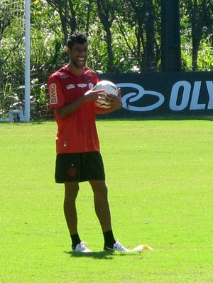 leo moura flamengo treino (Foto: Richard Souza / Globoesporte.com)
