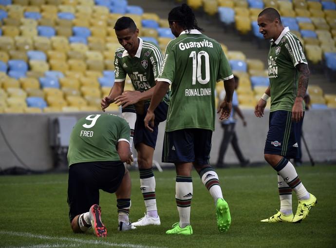 Fluminense Figueirense comemoração (Foto: André Durão / GloboEsporte.com)