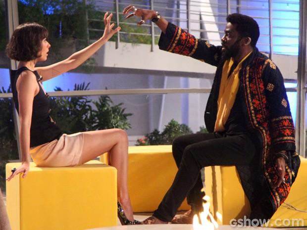 Está rolando a maior afinidade entre Brian e Evangelina. Quem não gosta nada dessa situação é Vergara (Foto: Geração Brasil / TV Globo)