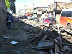 Feira irregular é demolida no bairro São José, em Manaus