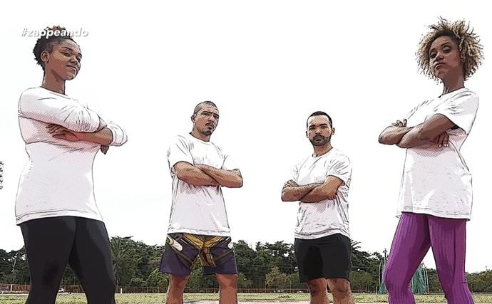 'Olimpiadas do Zapp' tem clima de zoeira (Foto: Rede Amazônica)