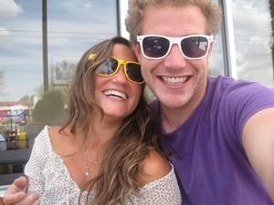 Relacionamento do casal Juliana e Jakob começou em abril de 2010, no Chile. (Foto: Juliana Maiolino/Arquivo Pessoal)