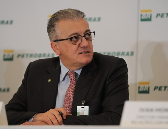 Aldemir Bendine em 2015, quando era presidente da Petrobras  (Foto: Tomaz Silva/Agência Brasil)
