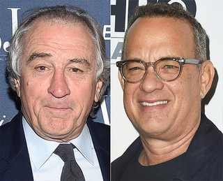 Robert De Niro e Tom Hanks (Foto: Dimitrios Kambouris/ Getty Images/ AFP - Valerie Macon/ AFP )