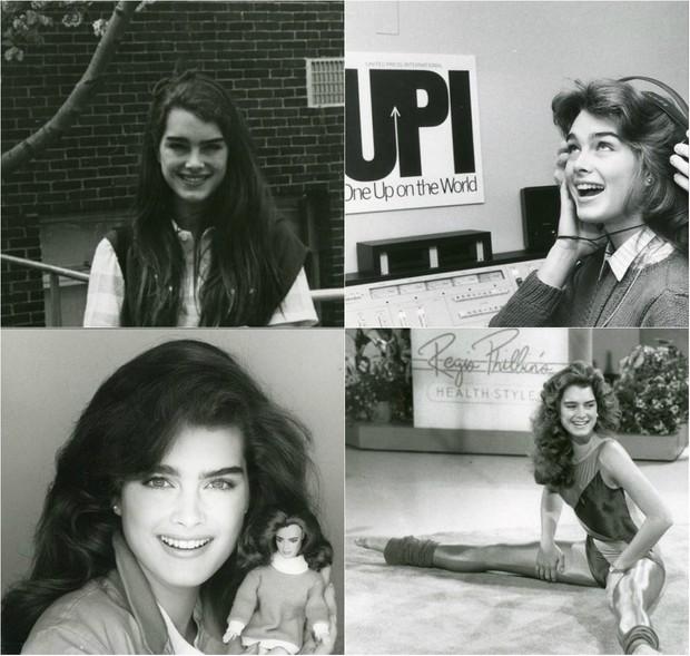 Brooke Shields na década de 70 e 80 (Foto: Reprodução do Instagram)