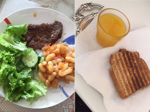 Mussa abandonou fast food e doces; hoje, refeições são balanceadas (Foto: Mussa Bakri/Arquivo pessoal)