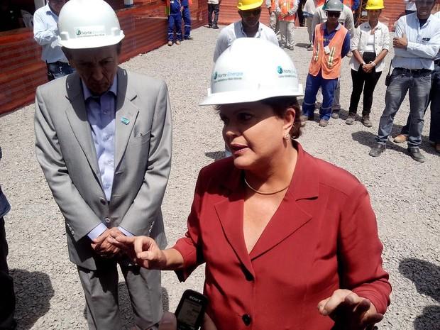 Dilma Rousseff cumpriu agenda de campanha em Belo Monte (Foto: Glaydson Castro / TV Liberal)