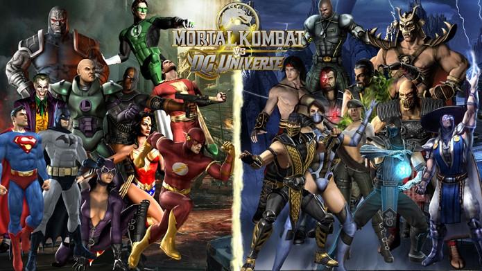 Os heróis da DC Comics enfrentaram os guerreiros de MK em Mortal Kombat vs DC Universe (Foto: Divulgação/WB Games)