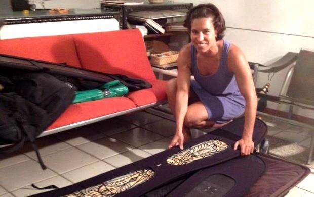 snowboard Isabel Clark embarque para o Mundial (Foto: Reprodução / Facebook.com)