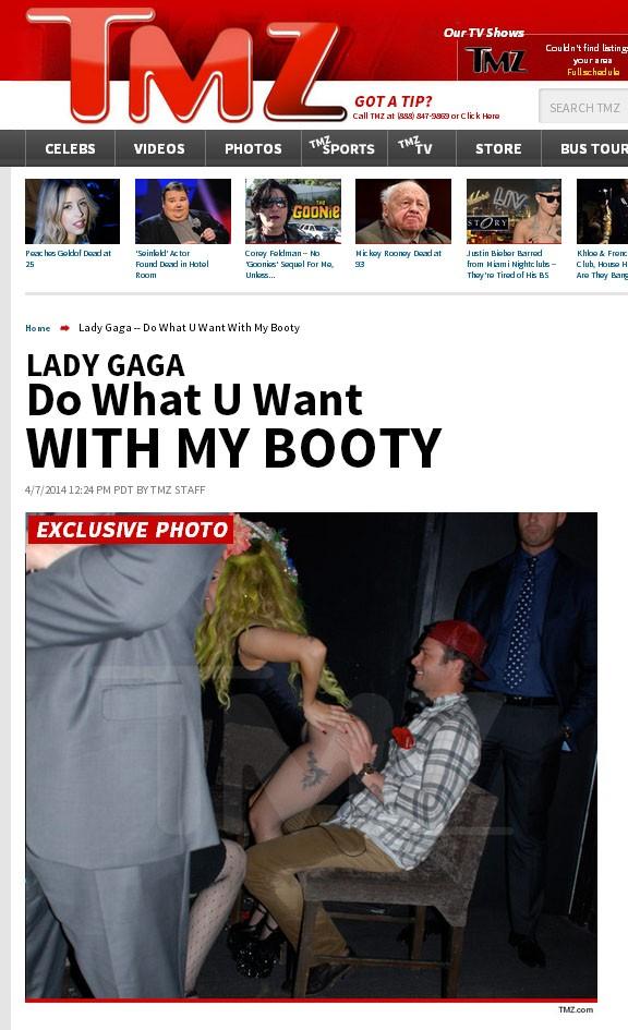 Lady Gaga com o namorado em boate (Foto: TMZ/Reprodução)
