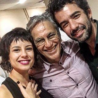 Andreia Horta, Gustavo Machado e Caetano Veloso (Foto: Reprodução/Instagram)