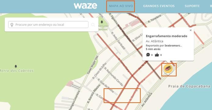 Confira o mapa de trânsito e alertas ao vivo no Waze (Foto: Reprodução/Barbara Mannara)