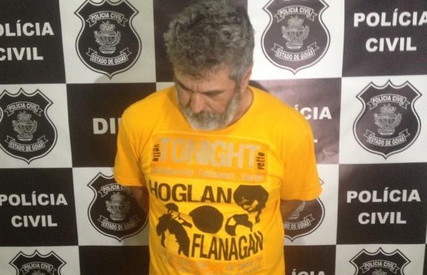 Jesus Pereira das Graças foi Preso suspeito de matar namorada e já executou 4 companheiras, em Goiás (Foto: Sílvio Túlio/G1)