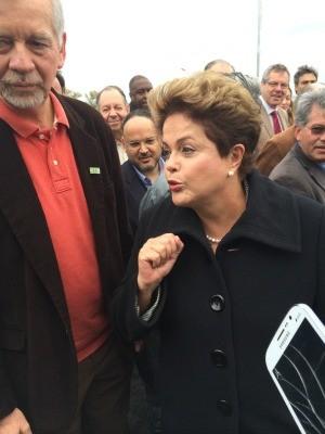 Dilma no RS (Foto: Carla Simon/G1)