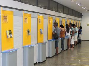 A tentativa de furto não prejudicou o funcionamento da agência (Foto: Ellyo Teixeira/G1)