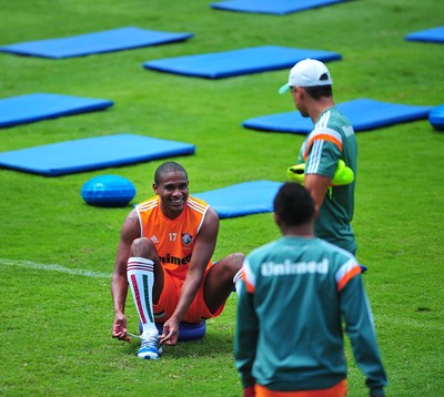 Valencia treino Fluminense (Foto: Moysés Fermann / Fluminense F.C)