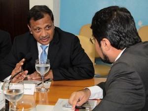 Pramod Agarwal, bilionário indiano dono da Zamin Amapá (Foto: Jorge Júnior/Agência Amapá)