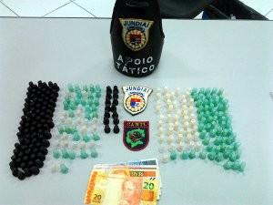 Criminoso vendia cocaína e crack (Foto: Divulgação/Guarda Municipal de Jundiaí)