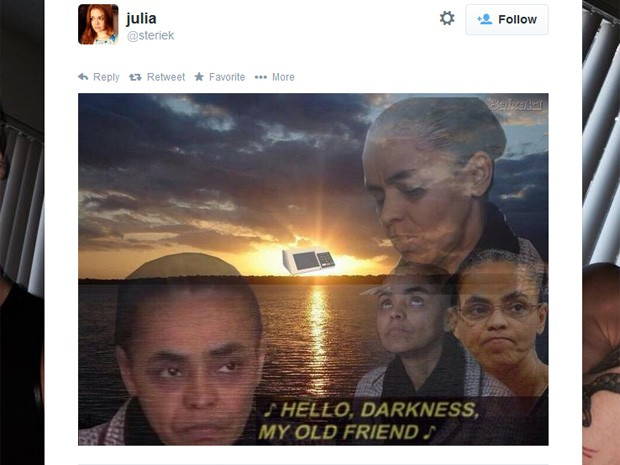 Meme com Marina Silva (Foto: Reprodução/Twitter)