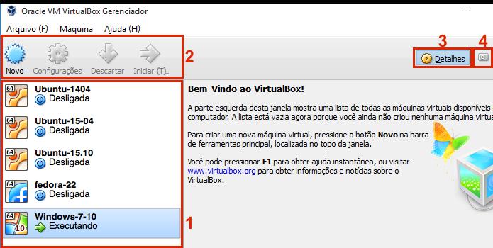 Conhecendo a interface do VirtualBox (Foto: Reprodução/Edivaldo Brito)