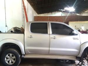 Hilux (foto) e Frontier foram apreendidas pela Polícia Civil (Foto: Divulgação/Seic-MA)