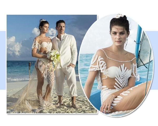 O vestido de Isabeli Fontana é da Água de Coco (Foto: Reprodução/Instagram)
