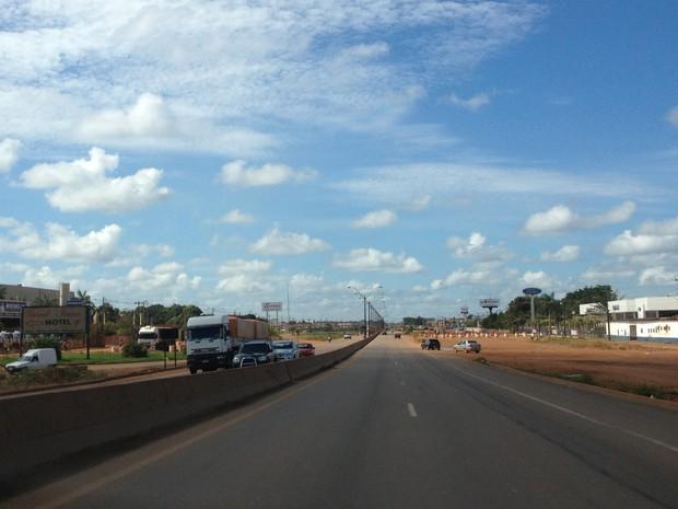 Sol aparece durante o dia em vários municípios de Rondônia (Foto: Vanessa Vasconcelos/G1)