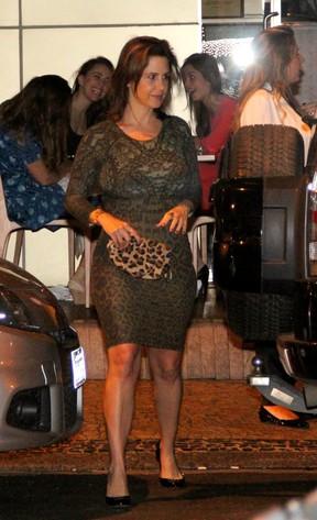 Guilhermina Guinle em restaurante no Rio (Foto: Rodrigo dos Anjos/ Ag. News)