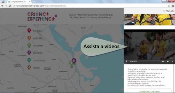 Tutorial: mapa da esperança; criança esperança (Foto: Globo)