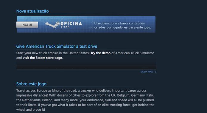 Acesse a Oficina do Euro Truck Simulator 2 (Foto: Reprodução/Murilo Molina)