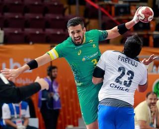 Zeba (Fernando Pacheco) Brasil x Chile Handebol (Foto: Reuters)