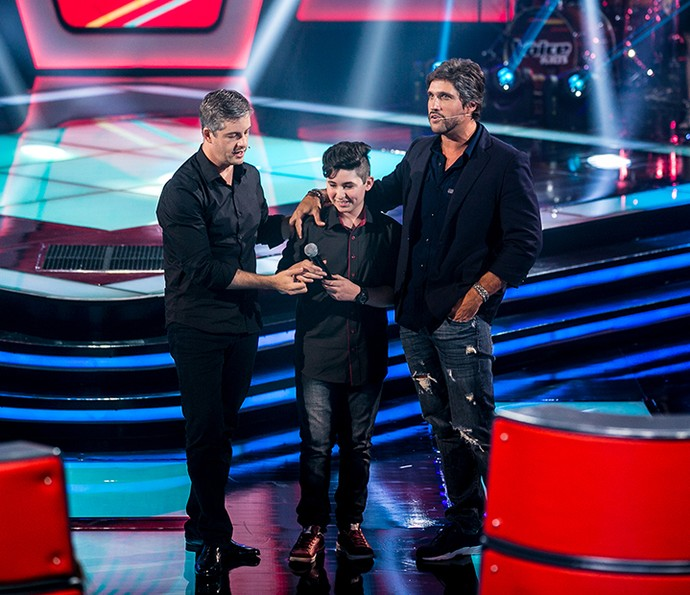Victor & Leo aprovam Gabriel Lins no The Voice Kids (Foto: Isabella Pinheiro/Gshow)