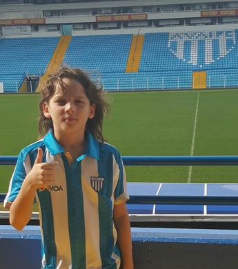 Enzo Silva, 11 anos, roraimense aprovado nas categorias de base do Avaí (Foto: Extremo Norte/Divulgação)