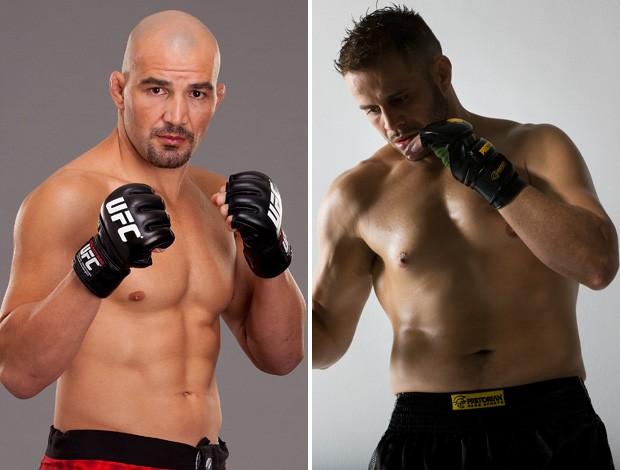 Glover Teixeira e Fabio Maldonado MMA UFC (Foto: Montagem sobre foto da Getty Images)