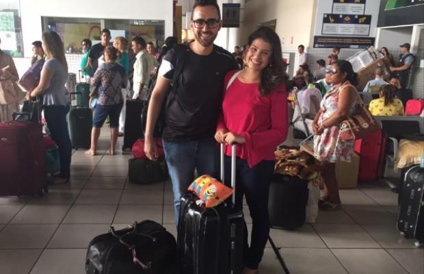 Janaína Brito saiu de Rondônia para aproveitar o feriado em Goiás (Foto: Murillo Velasco/G1)