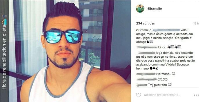 Rodrigo Ramallo reclama em rede social (Foto: Reprodução / Instagram)