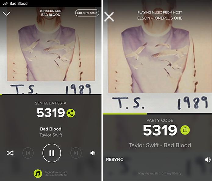 AmpMe tocará mesma música em dispositivos diferentes, mas só um terá controle (Foto: Reprodução/Elson de Souza)