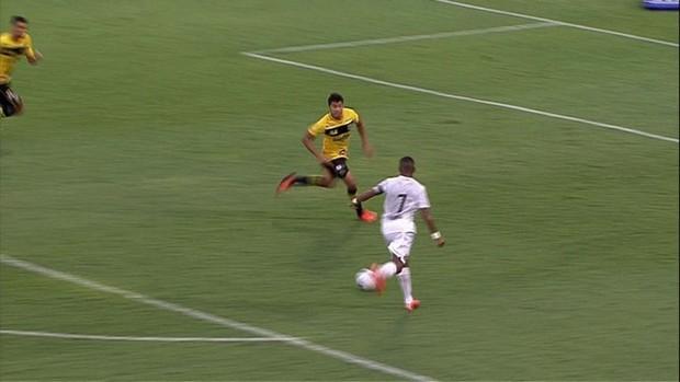 Robinho, São Bernardo x Santos (Foto: SporTV)