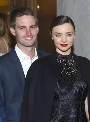 Evan Spiegel e Miranda Kerr: noivos (Foto: Getty Images)