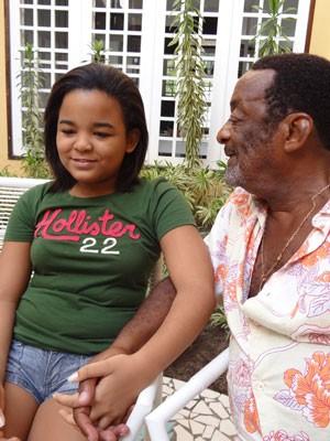 'Ele é um pai muito carinhoso', diz filha Luz Morena. (Foto: Luna Markman/ G1)