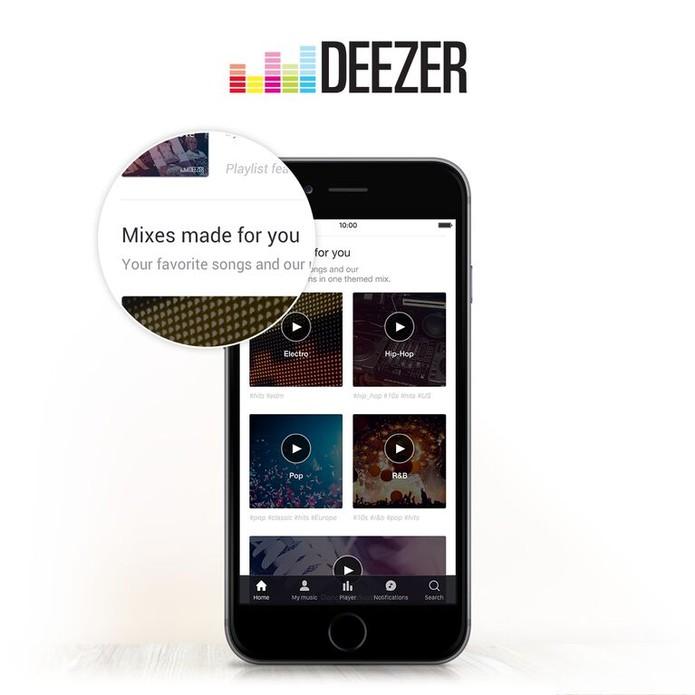 Nova interface chega ao iOS nesta quarta (16) e para Android e web nas próximas semanas (Foto: Divulgação/Deezer) (Foto: Nova interface chega ao iOS nesta quarta (16) e para Android e web nas próximas semanas (Foto: Divulgação/Deezer))